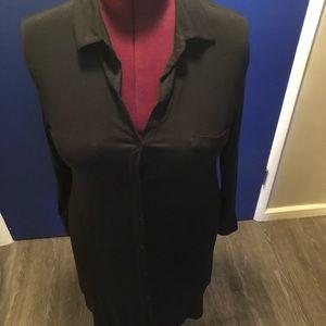 Soma Cool Nights Black Shirt Dress XL